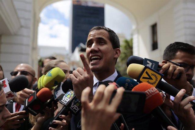 Venezuela, Caracas,  president Juan Guaido Juan Guaido.  Photo: Rafael Hernandez/dpa