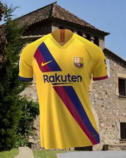 Segunda equipación del FC Barcelona para la temporada 2019-20