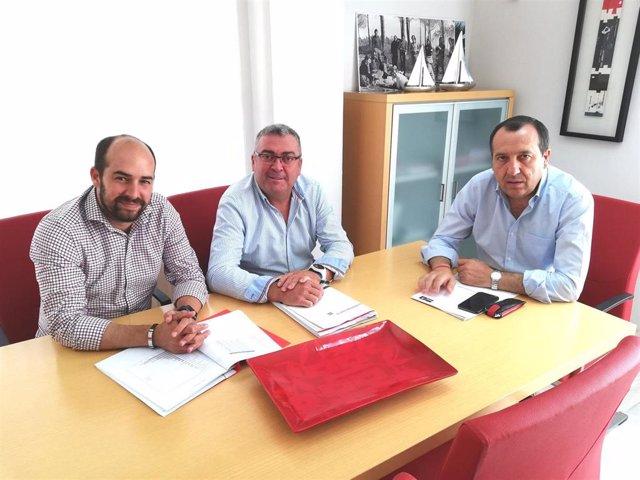 Javier Jérez, José Juan Jiménez y José Luis Ruiz Espejo