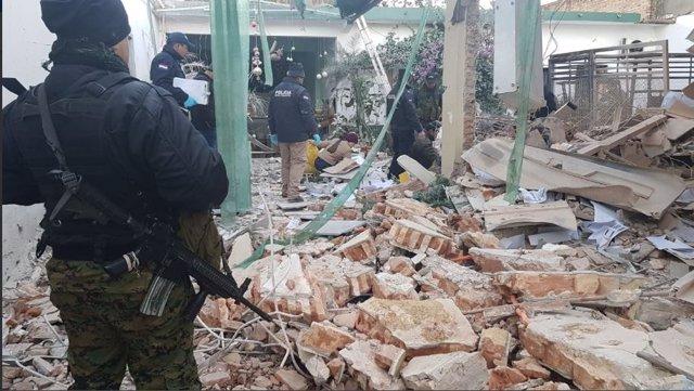 Sucursal del banco Visión detrozada tras un atraco