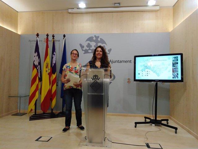 La tinent de batle de Infraestructures, Accessibilitat i Districte Ponenet, Angélica Pastor, en la presentació de les bases per a l'adjudicació dels horts urbans ecosocials de Palma