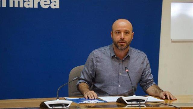 El portavoz de En Marea y portavoz parlamentario del Grupo Mixto en el Parlamento de Galicia, Luís Villares.