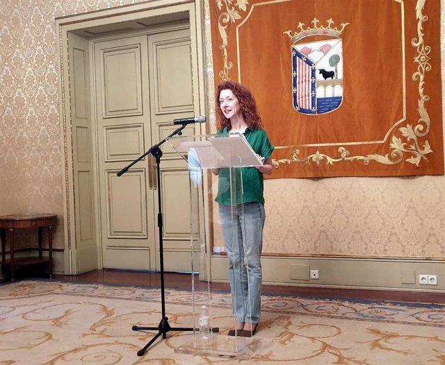 La concejal Ana Suárez en rueda de prensa