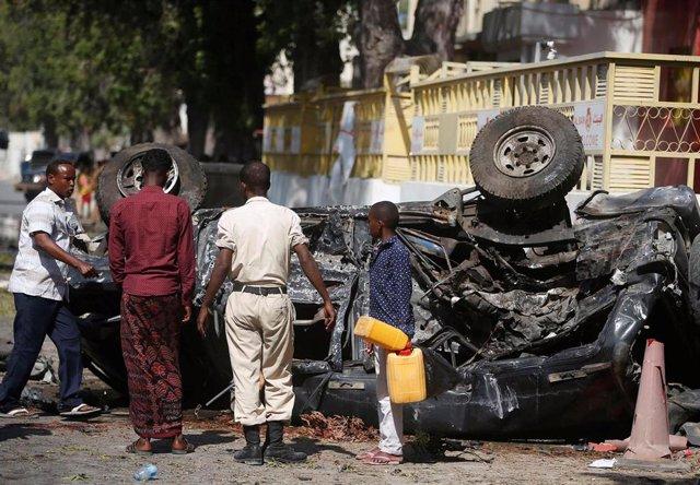 Atentado de Al Shabaab en Mogadiscio (archivo)