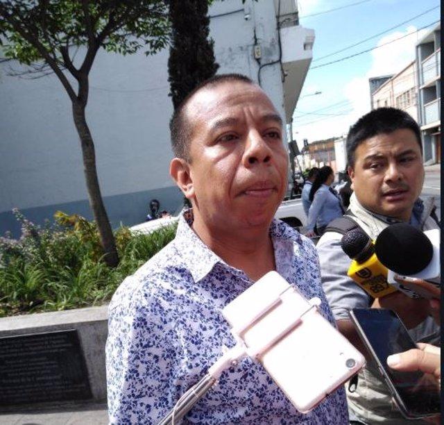 Aldo Dávila en rueda de prensa