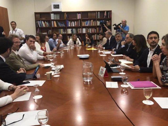Reunió de coordinació estratgica de JxCat