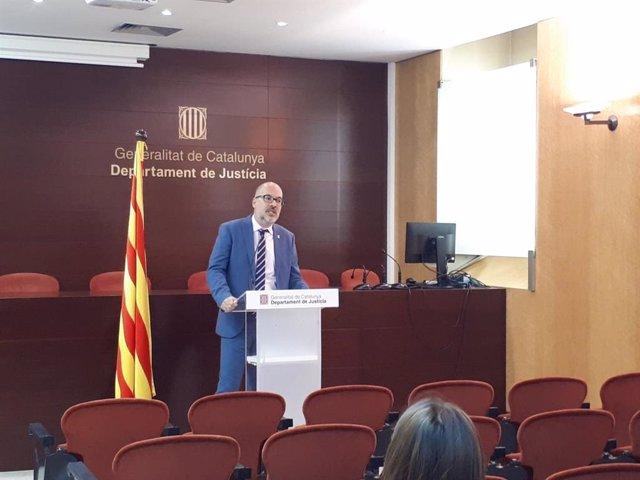 Joan Abad, secretari de Relacions de l'Administració de Justícia de la Generalitat de Catalunya