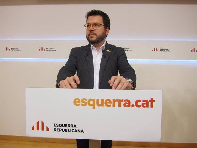 El vicepresident del Govern i número tres d'ERC Pere Aragonès