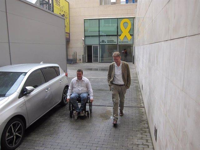 El presidente del PDeCAT David Bonvehí y el secretario de Organización Ferran Bel