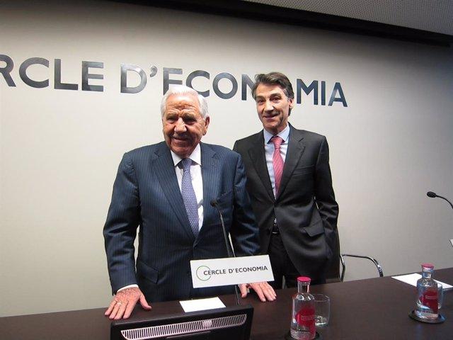 El president de Ficosa, Josep Maria Pujol, i el conseller delegat de Ficosa, Xavier Pujol
