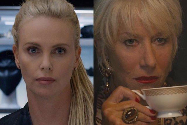 Charlize Theron y Helen Mirren en Fast & Furious 8