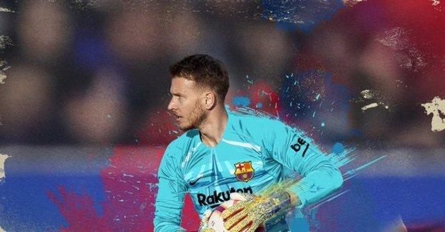 Bienvenida del FC Barcelona a su nuevo portero Neto