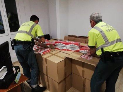 Detenido un riojano en Jaén cuando transportaba 12.230 cajetillas de tabaco de contrabando en un furgón