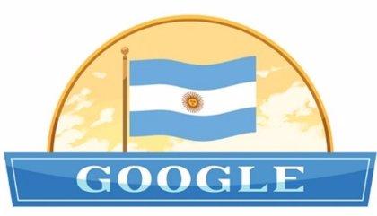 Google celebra con un 'doodle' el Día de la Independencia de Argentina