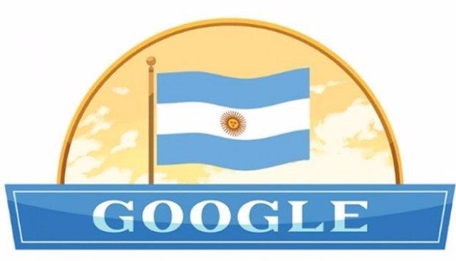 Doodle bandera de Argentina