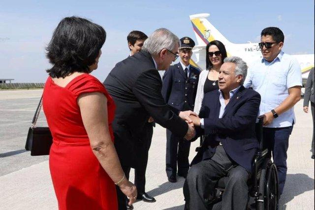 Lenín Moreno llega a Italia 2019