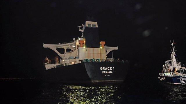 El superpetrolero iranià 'Grace 1', retingut a Gibraltar