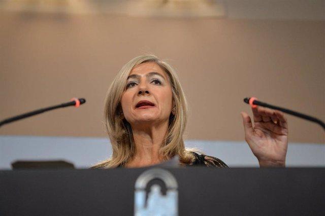 La consejera de Cultura y Patrimonio Histórico, Patricia del Pozo, comparecen en rueda de prensa tras la reunión semanal del Consejo de Gobierno andaluz.