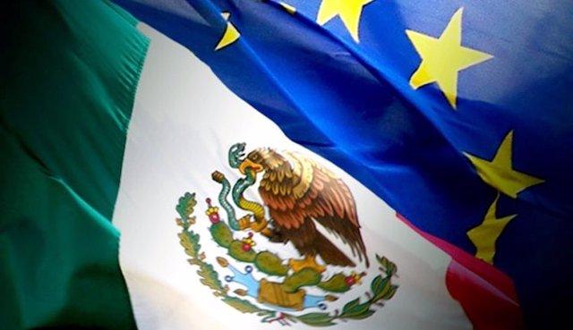 Bandera México y UE