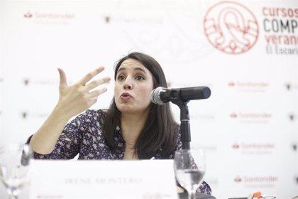 """Irene Montero denuncia que el PSOE recorre a """"amenaces i pressions"""" per fer president Pedro Sánchez"""