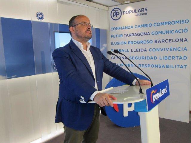 El presidente del PP de Catalunya, Alejandro Fernández