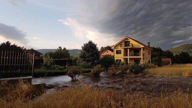 Daños causados por las lluvias y tormentas en la provincia de Ourense.
