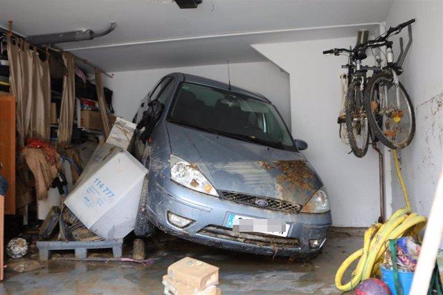 Graves inundaciones en Tafalla (Navarra)