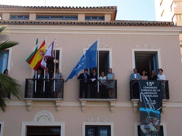 Lectura del manifiesto del Colegio de Abogados de Málaga con motivo del Día de la Justicia Gratuita y el Turno de Oficio