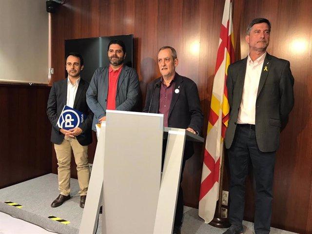 Oscar Ramírez, Paco Sierra, Jordi Coronas y Jordi Martí
