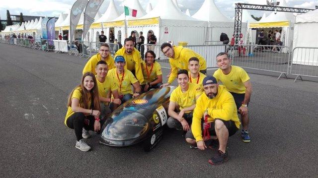 El equipo del campus de Alcoy de la UPV logra una marca de 813 km con un litro de combustible con su vehículo IDF19