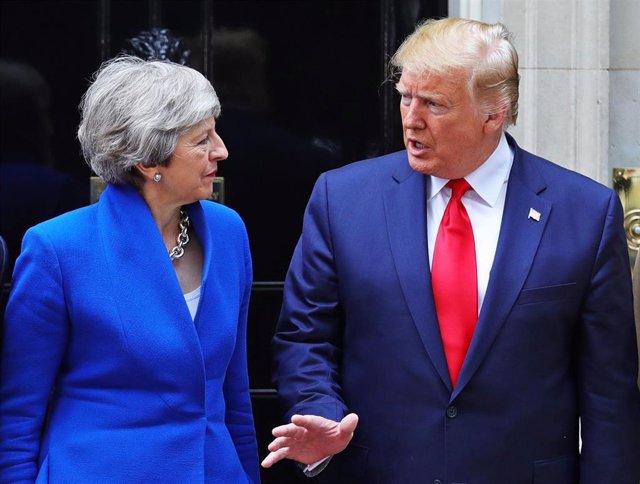 Theresa May y Donald Trump