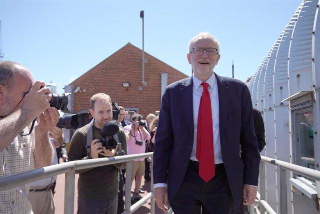 Jeremy Corbyn en la localidad de Hartlepool