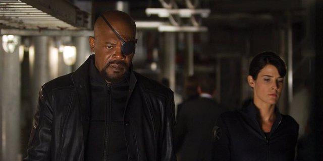 Nick Fury y María Hill en el Universo Marvel