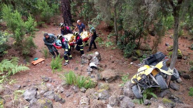 Recursos de emergencia auxilian a los heridos