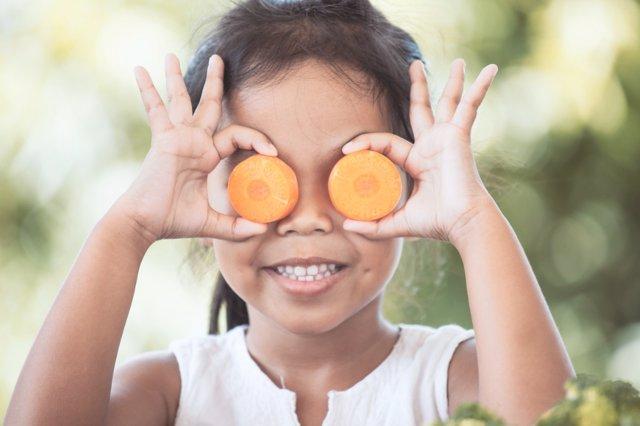 Frutas y verduras para los niños