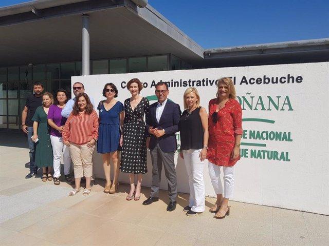 Reunión de responsables de turismo y medio ambiente de Gobierno y Junta de Andalucía en Doñana
