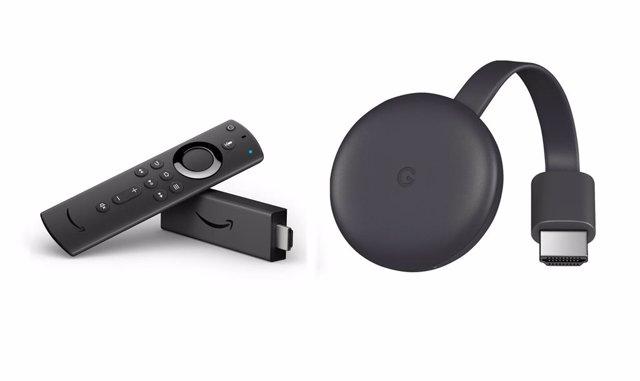 Amazon Fire TV y Chromecast