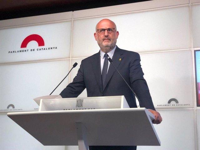 El portavoz adjunto de JxCat en el Parlament, Eduard Pujol.