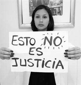 Arlette Contreras, rechazando la sentencia que absulve a su agresor