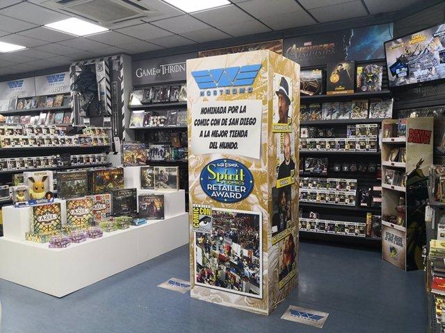 Interior de la tienda sevillana Nostromo