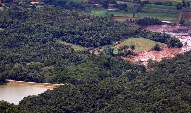 Rotura de una presa inundación en Brumadinho