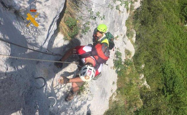 Imagen de archivo de un rescate montañero del Greim.