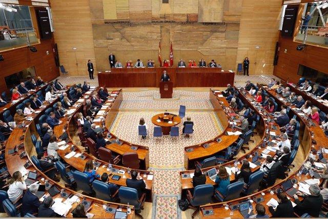 Imagen de archivo de un Pleno de la Asamblea de Madrid