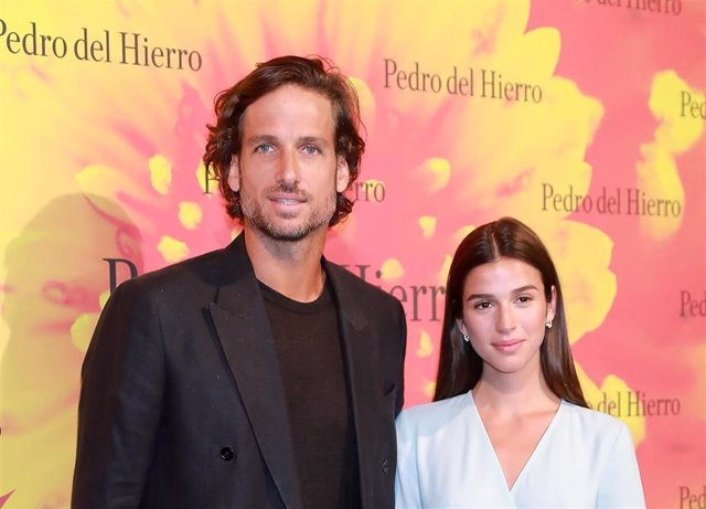 Feliciano López y Sangra Gago en la Mercedes Benz Fashion Week de Madrid