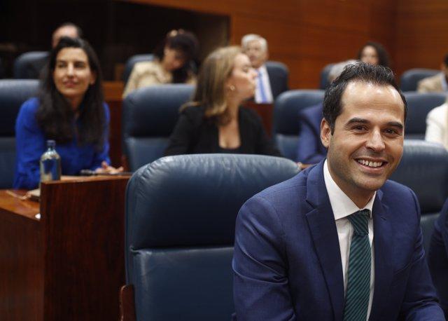 Rueda de prensa del portavoz de Ciudadanos en la Asamblea de Madrid, Ignacio Aguado
