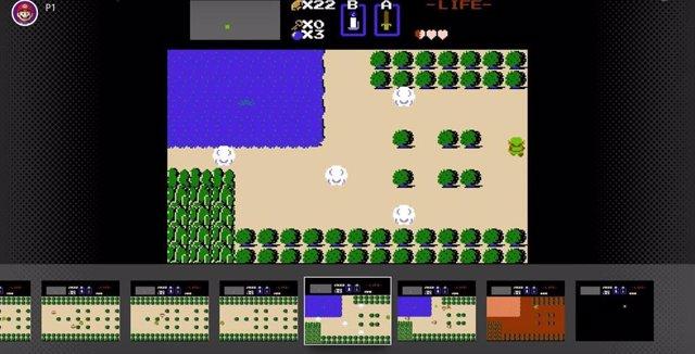 Videojuego de Zelda para NES con función de rebobinado