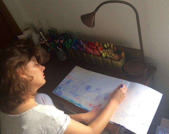 La artista Consuegra Romero