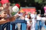 Ofrenda floral infantil a San Fermín