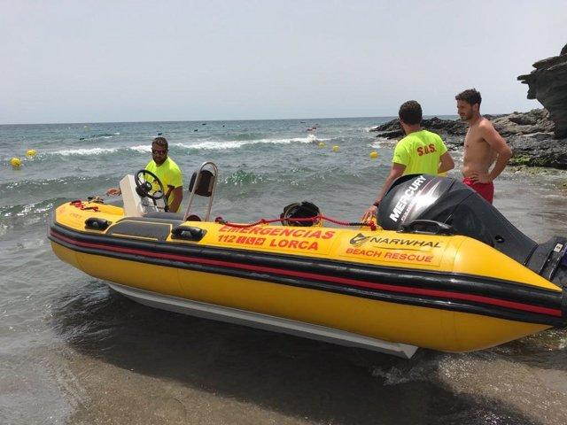 Socorristas Plan Copla, playa, mar, lancah Emergencias