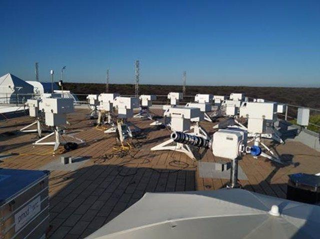 Instrumentos para medir el agujero de la capa de ozono.